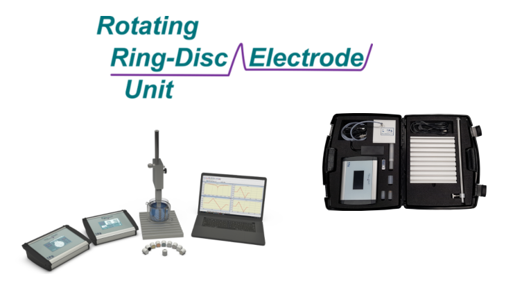 Rot.Ring-Disc Electrode Unit with optional accessories